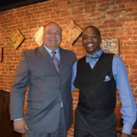 Bob Booker and a Cadet - 2015 Annual Academic Awards Banquet
