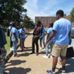 Cadets visit Tennessee State University on a bright sunny day.